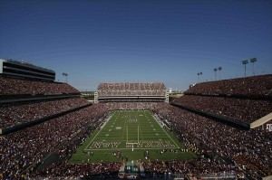 Oct 20, 2012; College Station, TX, USA; A general view of Kyle Field during the first half of the game between the Texas A